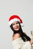 Foto del Año Nuevo de la mujer Foto de archivo libre de regalías