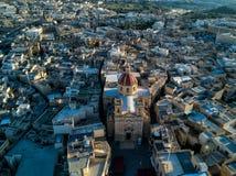 Foto del abejón de la basílica del ` s de San Jorge en Gozo, Malta Ciudad de Victoria imágenes de archivo libres de regalías