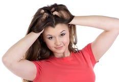 Foto del adolescente con el pelo largo Foto de archivo
