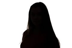 Foto del adolescente de la silueta Fotografía de archivo