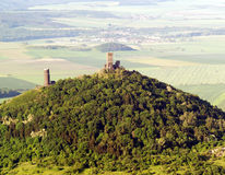 Foto del aire de Hazmburk Imagen de archivo