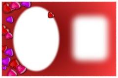 Foto del biglietto di S. Valentino e un messaggio Fotografie Stock