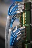Foto del cableado (wirework). fotografía de archivo