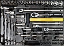 Primer de la caja de herramientas Foto de archivo libre de regalías
