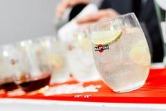 Foto del cocktail con calce Fotografia Stock