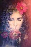 Foto del compuesto de la cara de la belleza de la mujer fotos de archivo libres de regalías