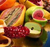 Foto del concepto de las frutas modificadas fotos de archivo