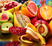 Foto del concepto de las frutas modificadas imagenes de archivo