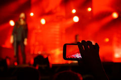 Foto del concierto Fotografía de archivo libre de regalías