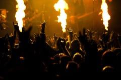 Foto del concierto de rock Imagen de archivo
