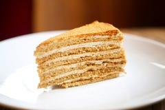 Foto del dessert delizioso di miele Fotografia Stock