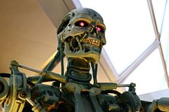 Foto del esqueleto del extremo T-800 foto de archivo
