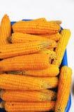Foto del fondo giallo del cereale, ambiti di provenienza astratti Fotografie Stock Libere da Diritti