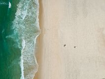 Foto del fuco della spiaggia di Barra da Tijuca, Rio de Janeiro, Brasile immagini stock