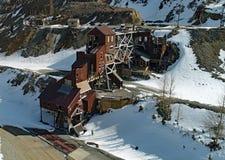 Foto del fuco di vecchia miniera abbandonata fotografia stock libera da diritti