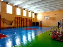 Foto del gimnasio de la escuela imagenes de archivo
