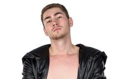 Foto del giovane in cappotto Fotografia Stock Libera da Diritti