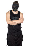 Foto del giovane nella maschera nera Immagini Stock Libere da Diritti