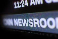 Foto del logo di CNN su uno schermo di monitor della TV Fotografie Stock