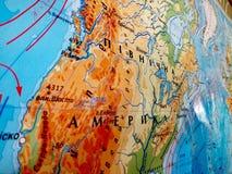Foto del mapa de América fotografía de archivo