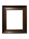 Foto del marco de madera oscuro envejecido fotografía de archivo