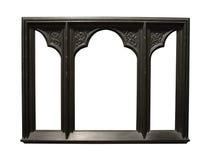 Foto del marco de madera oscuro envejecido Imágenes de archivo libres de regalías