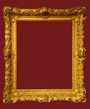 Foto del marco de oro envejecido Fotos de archivo