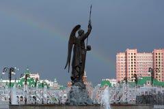 Foto del monumento all'arcangelo Gabriel Fotografia Stock Libera da Diritti