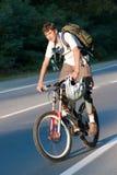 Foto del motorista de la montaña Foto de archivo