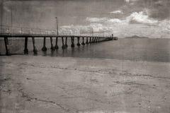 Foto del nord del Queensland del molo di Cardwell vecchia fotografie stock libere da diritti