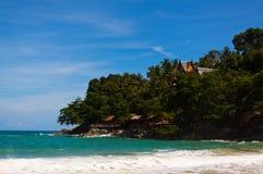 Foto del paesaggio della spiaggia tranquilla dell'isola Fotografie Stock Libere da Diritti