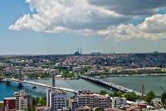 Foto del panorama Estambul Foto de archivo libre de regalías