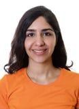 Foto del passaporto di giovane donna araba immagini stock libere da diritti