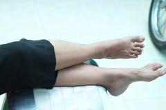Foto del pie humano, versión 4 fotos de archivo