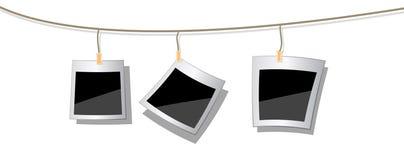 Foto del Polaroid allegate a stringa illustrazione vettoriale