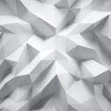 Foto del poligono bianco altamente dettagliato Poli stile basso triangolare arruffato geometrico bianco Grafico astratto di pende royalty illustrazione gratis