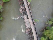 Foto del ponte del fiume James immagini stock