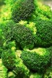 Foto del primer del bróculi Fotos de archivo