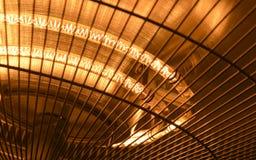 Foto del primer del calentador eléctrico Fotografía de archivo