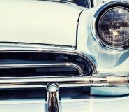 Foto del primer del coche retro Fotos de archivo libres de regalías