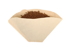 Foto del primer del filtro de café de papel foto de archivo libre de regalías