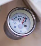 Foto del primer del indicador de la gasolina retro de la vespa Foto de archivo libre de regalías