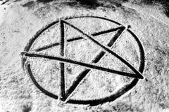 Foto del primer del Pentagram Foto de archivo libre de regalías