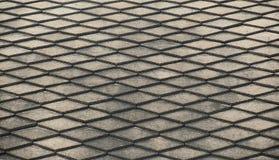Foto del primer, fondo abstracto, textura de acero de la reja Fotos de archivo libres de regalías
