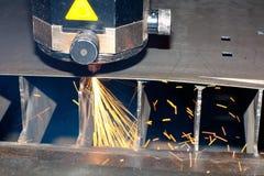 Foto del primo piano del laser industriale Immagine Stock