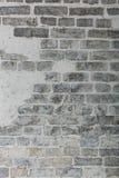 Foto del primo piano del muro di mattoni del whitewash Fotografie Stock