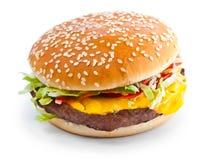 Foto del primo piano dell'hamburger Immagine Stock Libera da Diritti