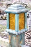 Foto del primo piano della lampada di via decorativa fotografia stock