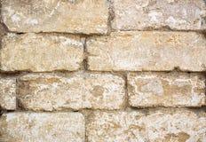 Foto del primo piano della parete di pietra ruvida invecchiata per fondo fotografie stock libere da diritti