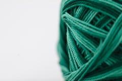 Foto del primo piano di cotone verde Fotografie Stock Libere da Diritti